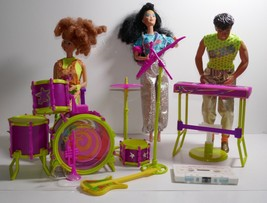 Mattel 1986 Barbie and The Rockers Live Concert Instruments w/ Diva Dana... - $49.49