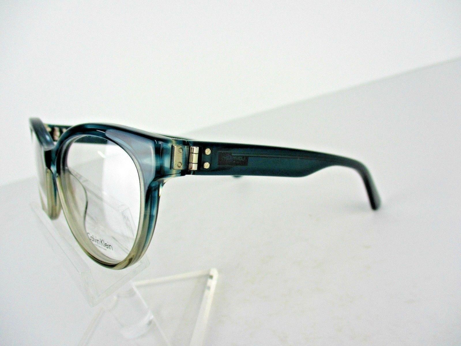 Calvin Klein CK 7986 (408) Teal/Taupe Horn 53 X 17 135 mm Eyeglass Frame