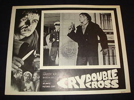 CRY DOUBLE CROSS (BOOMERANG) Hardy Kruger Original Lobby Card 2 - $3.79