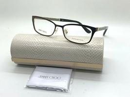 Jimmy Choo Eyeglasses Jc 166 LS7 Brown Glitter 52-16-140MM Italy Case& Cloth - $77.57