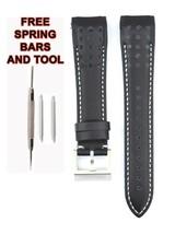 Compatible Seiko Sportura SNAE59P1 21mm Black Genuine Leather Watch Strap SKO110 - $34.86