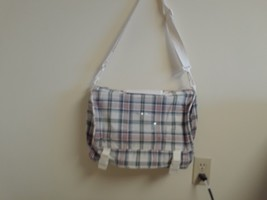 Longaberger Bag w strap fold over Bee 1997 Zippered Inside Bag Market Da... - $17.77