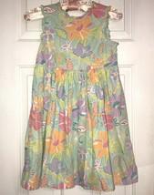 Girls Size S 9 Gymboree Pastel Floral Sleeveless Summer Sun Dress EUC - $14.84