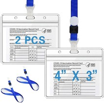 Clear Vaccination Card Holders 4×3 in for CDC Immunization - $6.75