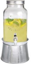 Estilo 1.5 gallon Glass Mason Jar Beverage Drink Dispenser With Ice Buck... - $32.33