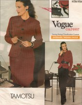 Vtg 1988 Vogue Career Office Tamotsu Top Taper Skirt Pants Sew Pattern 1... - $14.99