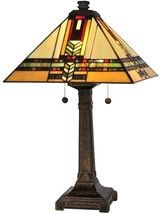 Table Lamp DALE TIFFANY PALO Mission 2-Light Fieldstone - $490.00