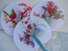 Birds Flowers 3 PC Oriental Folding Traveling Hand FAN Set ,Fan179 - $10.88