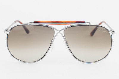 72ecec36143e3 Tom Ford Magnus Silver Havana   Gray Gradient Sunglasses TF193 10P