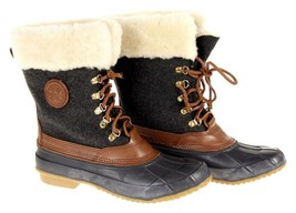Tory Burch Jada Mid Shaft Shearling Duck Boots Snow Rain Size 8 New - $197.99