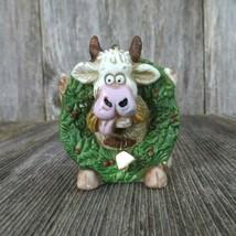 Vintage Cow Bull Christmas Ornament Roman Wreath Farm Country Rustic Cer... - $44.99