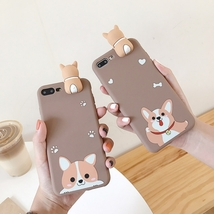 Iphone Case With Cute Dog Iphone Soft Case Brown Color - £6.85 GBP