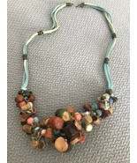 Pottery Art necklace jugs clay Vintage Unique one of a kind south american - $41.57