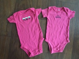 LOT of 2 Baby Girls Sz 3 mo One-Piece Outfits ~ Pink  _  + - $4.70