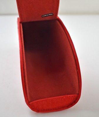 Puma Red Eyeglasses Sunglasses Eyewear Case - Half Moon - Hook & Loop Closure