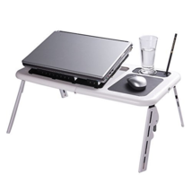 Folding Laptop Desk Adjustable USB Notebook PC Table Stand Workstation F... - £45.46 GBP
