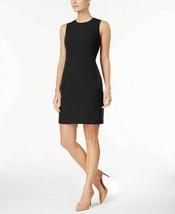 Anne Klein Executive Collection Shawl-Collar Sleeveless Sheath Dress  Bl... - $84.14
