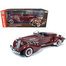 1935 Auburn 851 Speedster Plum Burgundy 1/18 Diecast Model Car by Autoworld AW26 - $193.04