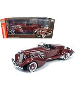 1935 Auburn 851 Speedster Plum Burgundy 1/18 Diecast Model Car by Autowo... - $193.04