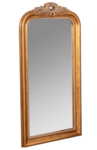 """Gilt Arched Mirror NeoClassical Restoration Hardware STYLE Wall Floor Vanity 58"""" - $682.01"""