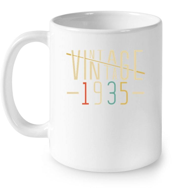 Vintage Legends Born In 1935 Aged 83 Yrs Years Old Awesome Gift Coffee Mug