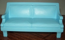 Fisher Price Loving Family Dollhouse Light Blue Sofa / Couch Doll Furnit... - $12.86