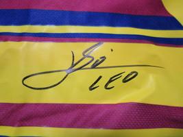 "LIONEL MESSI / AUTOGRAPHED ""FUTBOL CLUB BARCELONA"" PRO STYLE SOCCER JERSEY / COA image 4"