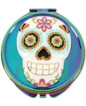NWOT Betsey Johnson Oil Slick-Tone Multi-Stone Sugar Skull Compact Mirror - $31.63