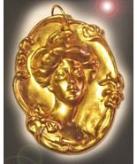 Golden goddess haunted pendant thumbtall