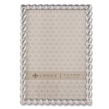 Lawrence Frames 710046 Silver Metal Rope Picture Frame, 4 by 6-Inch - $16.78