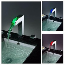 LED Waterfall Colors Changing Bathroom Basin Mixer Sink Faucet (HDD739) - $304.91