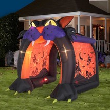 NEW - Gemmy Halloween 9 ft x 9 ft LED Lighted Projection Cat Tunnel Airb... - €211,47 EUR