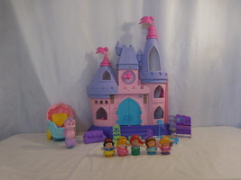 Little People Disney Princess Musical Castle + Ariel Carriage + Princess's - $37.02