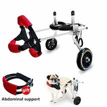 Adjustable Wheels Dog Wheelchair Cart Disabled Dog Assisted Walk Car for... - $4.026,61 MXN