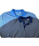 2 Ben Hogan Mens Sz L Polo Golf Shirts Comfort Design Blue Purple Egypt ... - $28.98