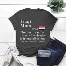 Womens Iraqi Mom Definition Iraq Flag Mothers Day T- Shirt Birthday Funn... - $15.99+