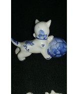 Antique Handpainted Porcelain / Ceramic Cat playing with ball 1900's.. (... - $25.00
