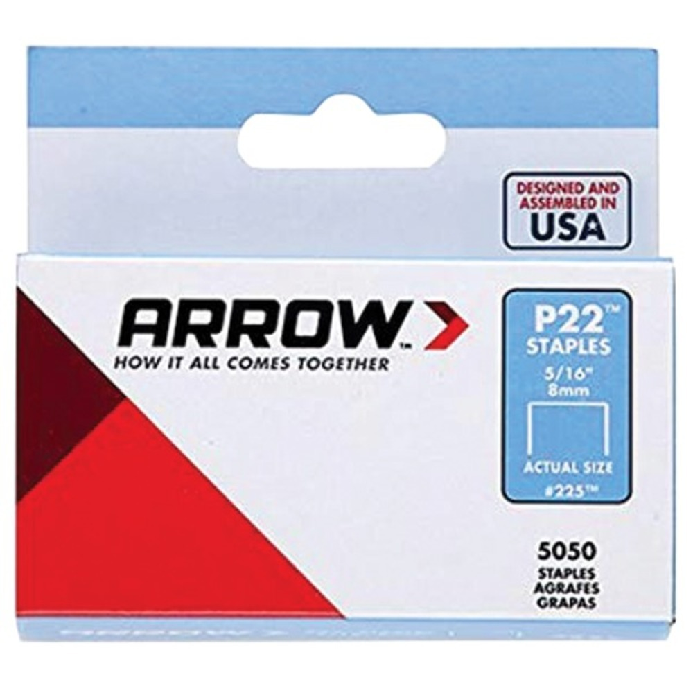 Primary image for Arrow 225 P22 Plier Staples, 5,050 pack (5/16 Inches)