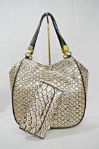 SET of  Brahmin Marianna Tote/Shoulder Bag in Pearl Dogwood  +  Checkboo... - $429.00