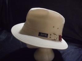 Vintage ORIGINAL PANAMA JACK Safari Hat White Canvas XL Made In USA Vent... - $24.75