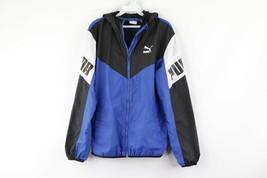 Puma Mens Small Big Logo Spell Out Color Block Hooded Windbreaker Jacket... - $34.60