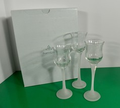 Partylite ICED CRYSTAL TRIO Candle Holder (s) Set of 3 P9248 Frosted Stems - $24.70