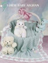 Floral Baby Afghan, Annie's Crochet Quilt & Afghan Club Pattern Leaflet ... - $14.95