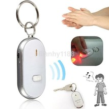 LED Anti-Lost Key Finder Locator Keychain Whistle Sound Control Keyring - $2.43