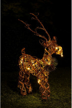 Santa Holding Tree Statue W/ 4 Color Changing LEDs And Timer, 17 Inch Tall - $76.90