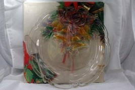 "Mikasa Festive Bells 14"" Crystal Hostess Platter - $15.93"