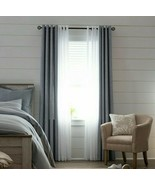 (1) NEW JCPENNEY JCPHOME Sullivan Chambray BLUE Blackout Grommet Curtain... - $58.79