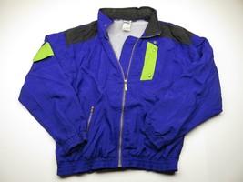 80s PUMA Full Zip Up Jacket With Hideaway Hood Adult Men's Sz. Medium 100% Nylon - $39.56