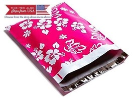 Poly Mailers Aloha Hawaiian Designer Mailers Shipping Envelopes Pink Bou... - $17.20