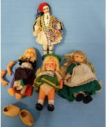 Vintage Dolls Small Plastic & Fabric for Repair Crafts Collecting Lot of 4 - $18.99